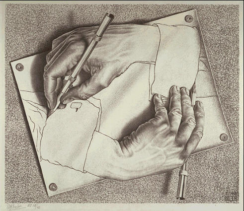 491x425 M.c. Escher Drawing Hands