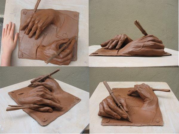 600x450 Escher's Drawing Hands By Faelle