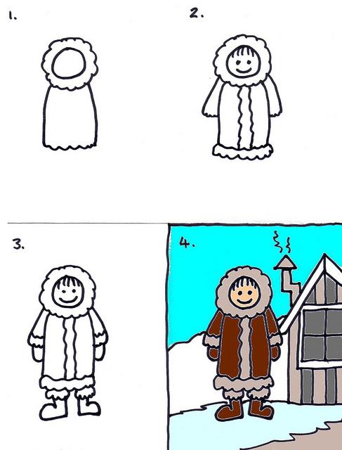 487x640 22 Eskimo Snow, Art Club And Drawings