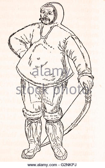 338x540 An Eskimo From A Water Colour Drawing By John White Stock Photos
