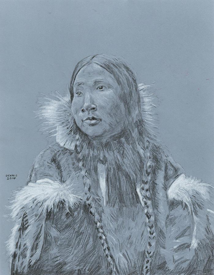 699x900 Eskimo Drawing By Dennis Larson