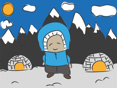 400x300 Eskimo Drawing By Elly Vos