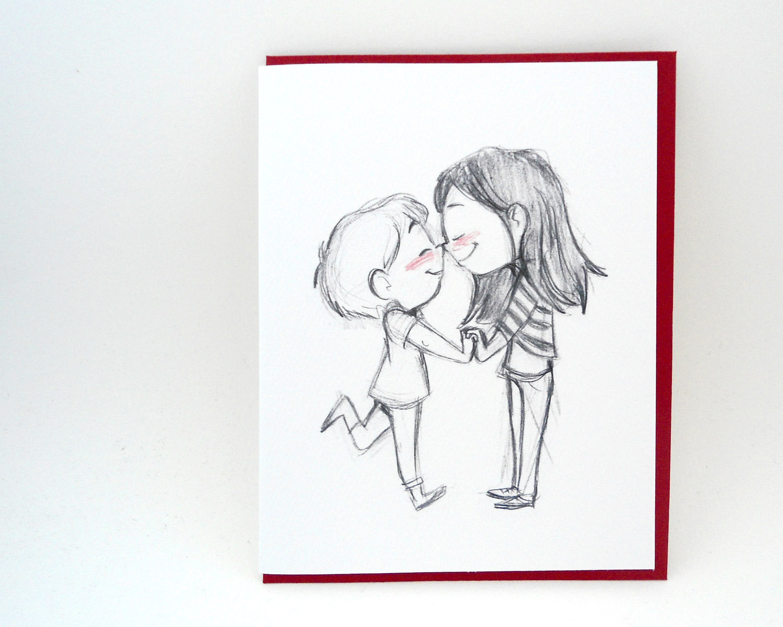 1500x1200 Eskimo Kiss Grusskarte Valentinstag
