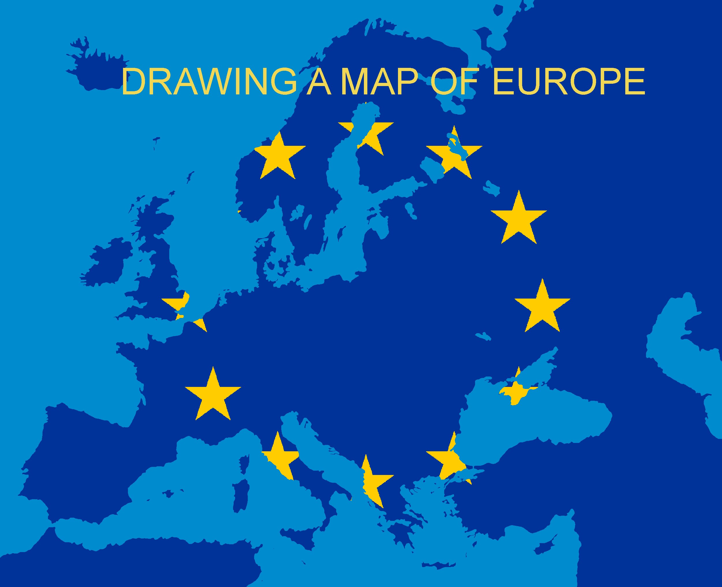 2500x2033 Drawing A Map Of Europe Part 1 Borders And Land Drawing