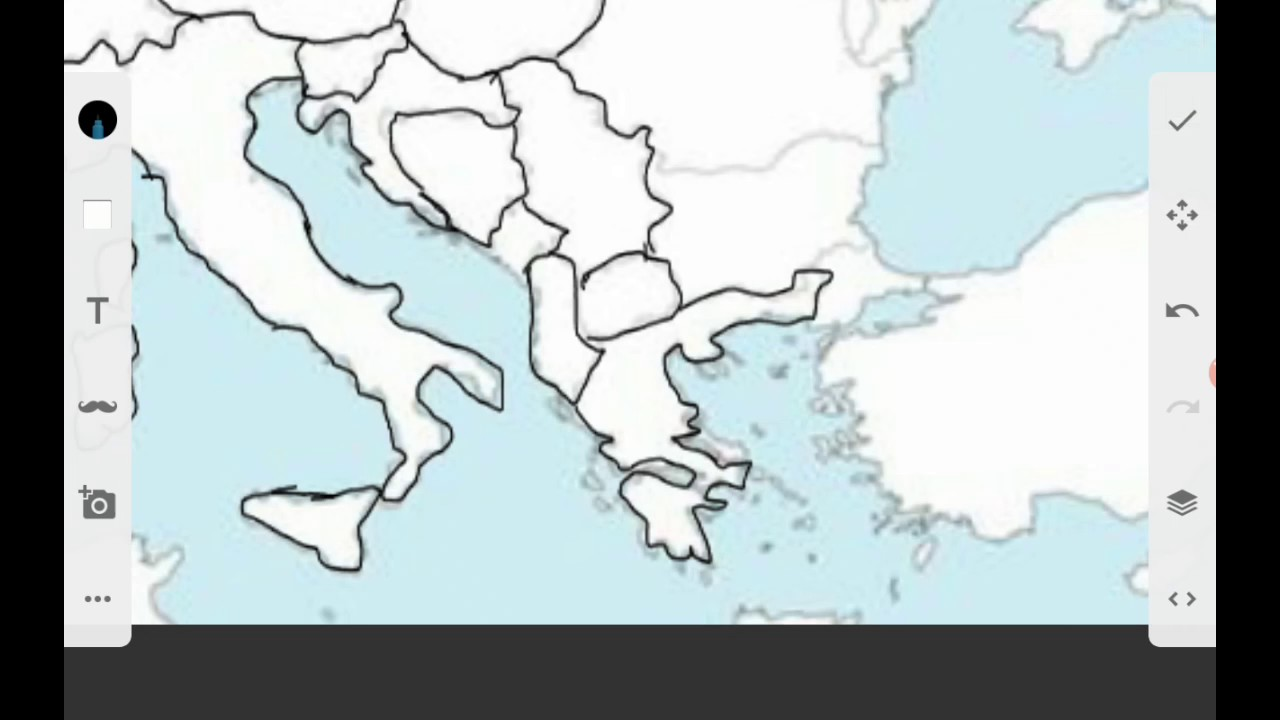 1280x720 Drawing Map Of Europe