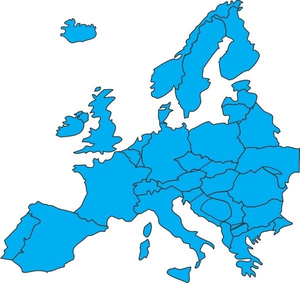 600x565 European Map Free Vector In Open Office Drawing Svg ( Svg