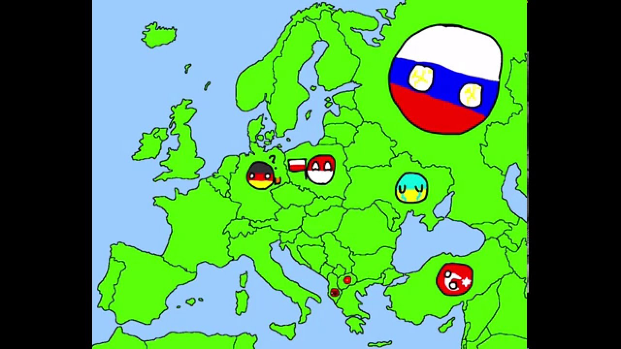 1280x720 Drawing The Map Of Europe In Countryballs