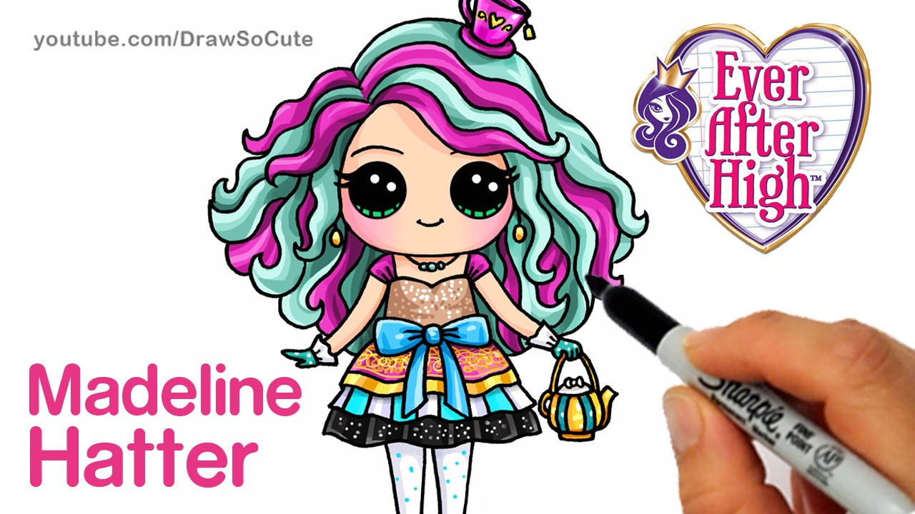 1280x720 How To Draw Madeline Hatter Step By Step Chibi