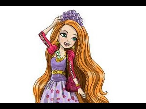 480x360 How To Draw Holly Ohair From Ever After High