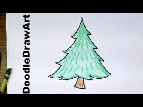 480x360 Drawing How To Draw Cartoon Pine Trees