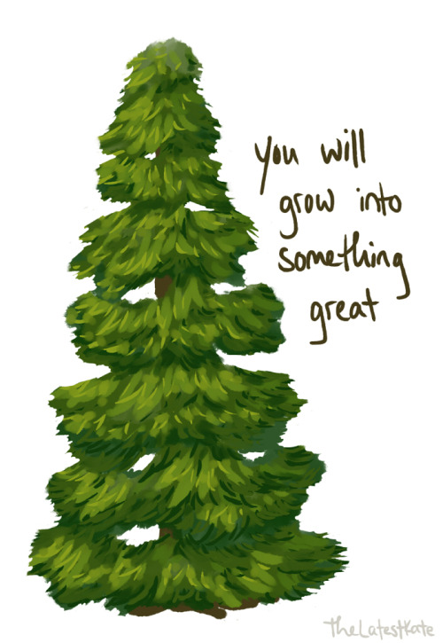 500x725 Drawing Tree Positive Positivity Recovery Encouragement Evergreen