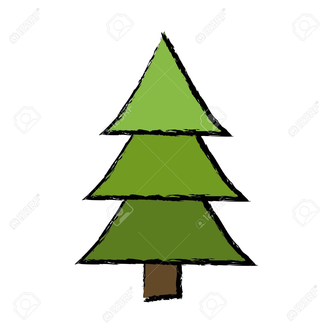 Evergreen Tree Drawing at GetDrawings.com | Free for personal use ...