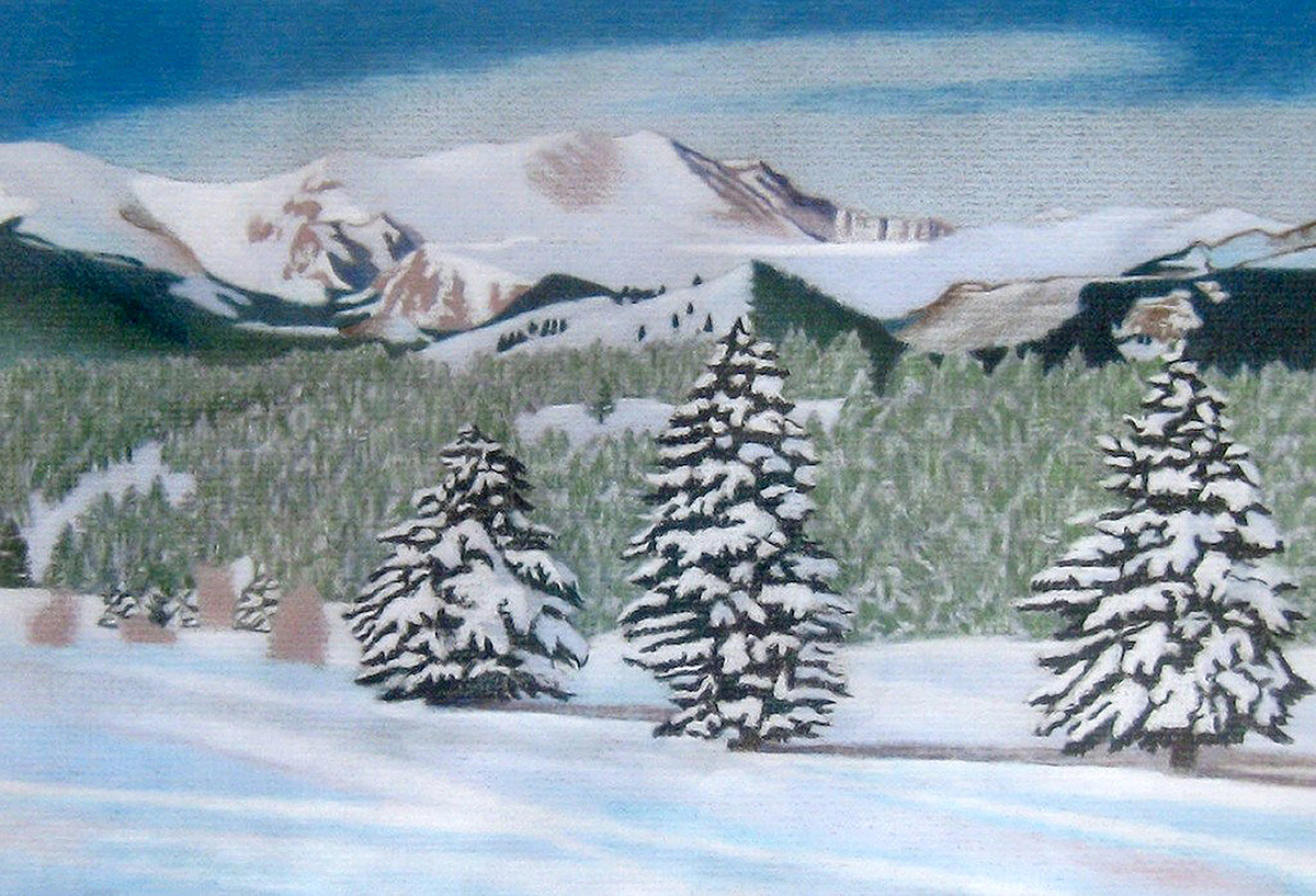 1200x817 Impression Evergreen Mount Evans Winter