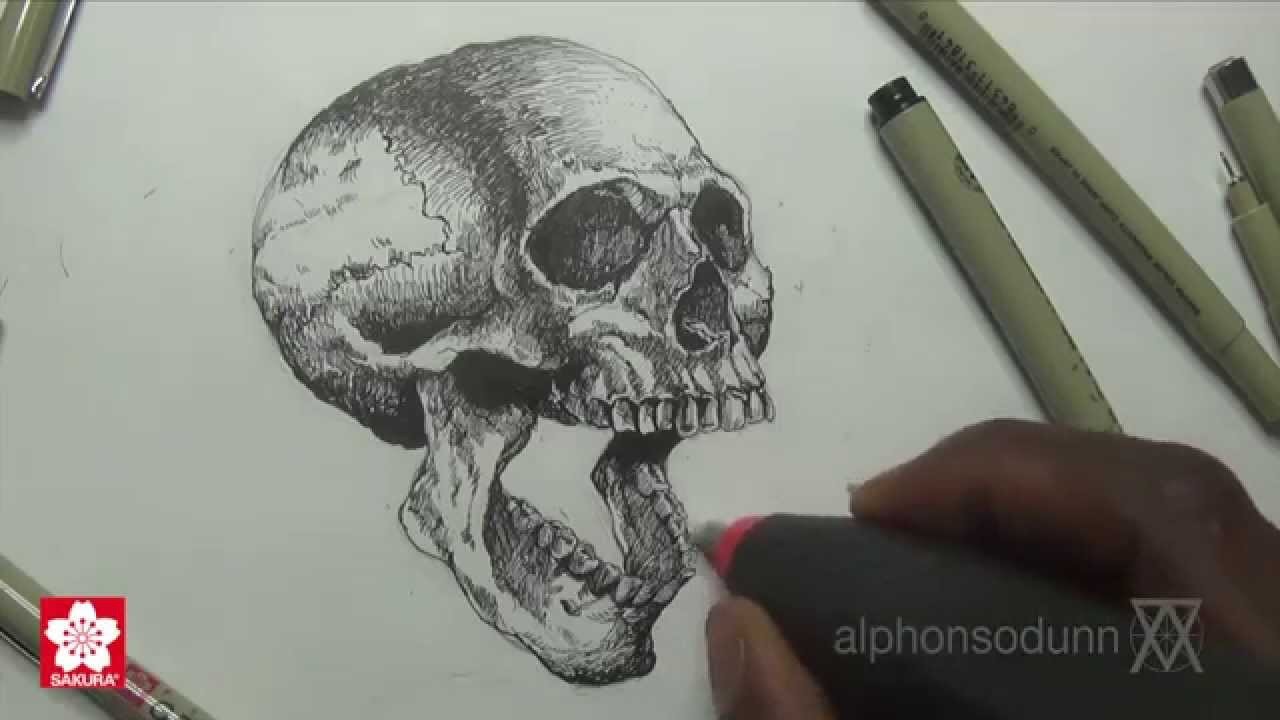 1280x720 Drawing A Skull With Alphonso Dunn