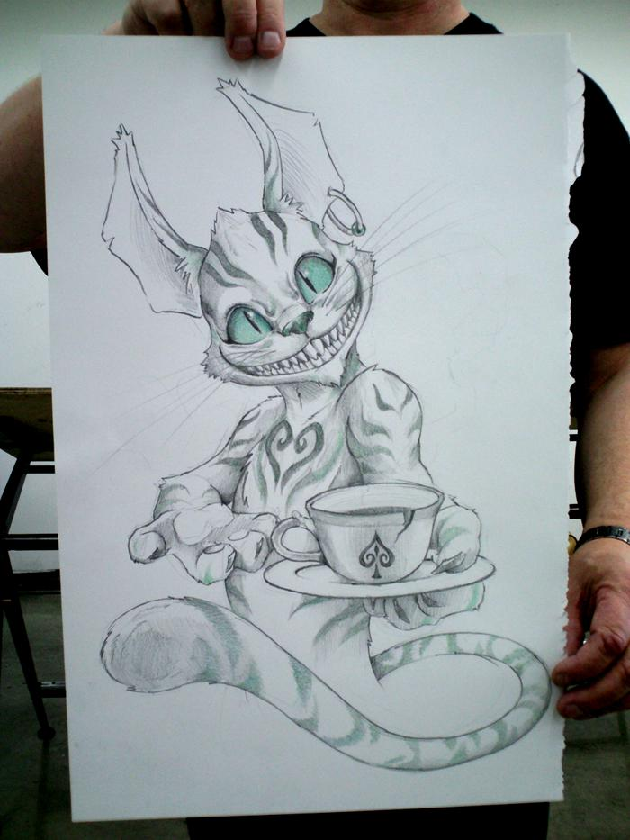 700x933 The Cheshire Cat By Ibird