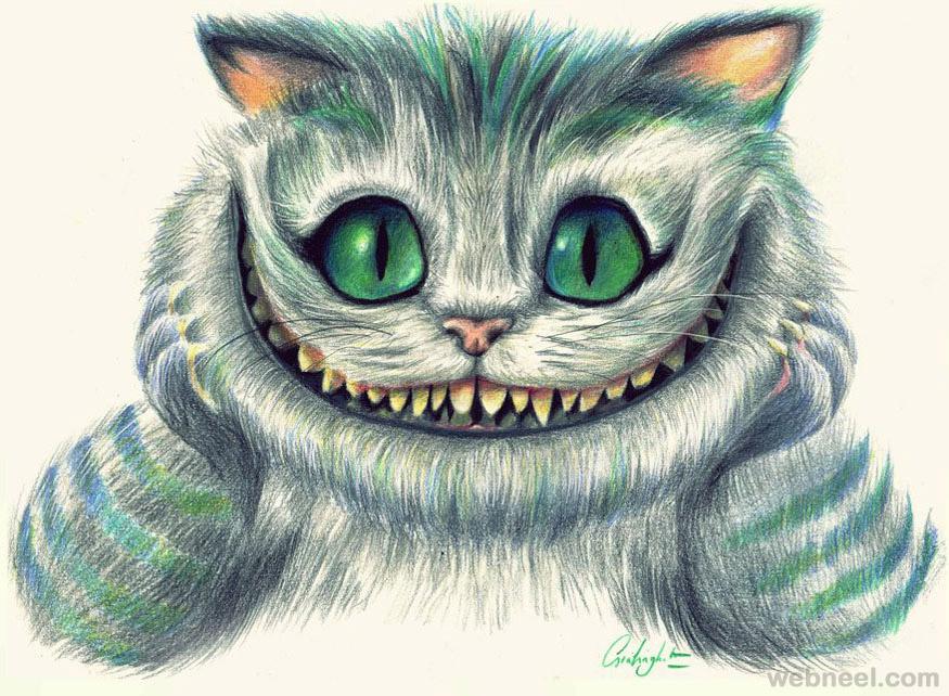 875x642 Evil Cat Drawing 25