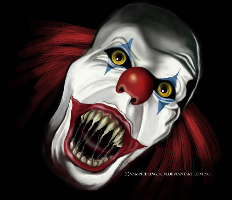 900x773 Clowns Digital Drawing 50 Scary Clowns That Will Haunt In Your