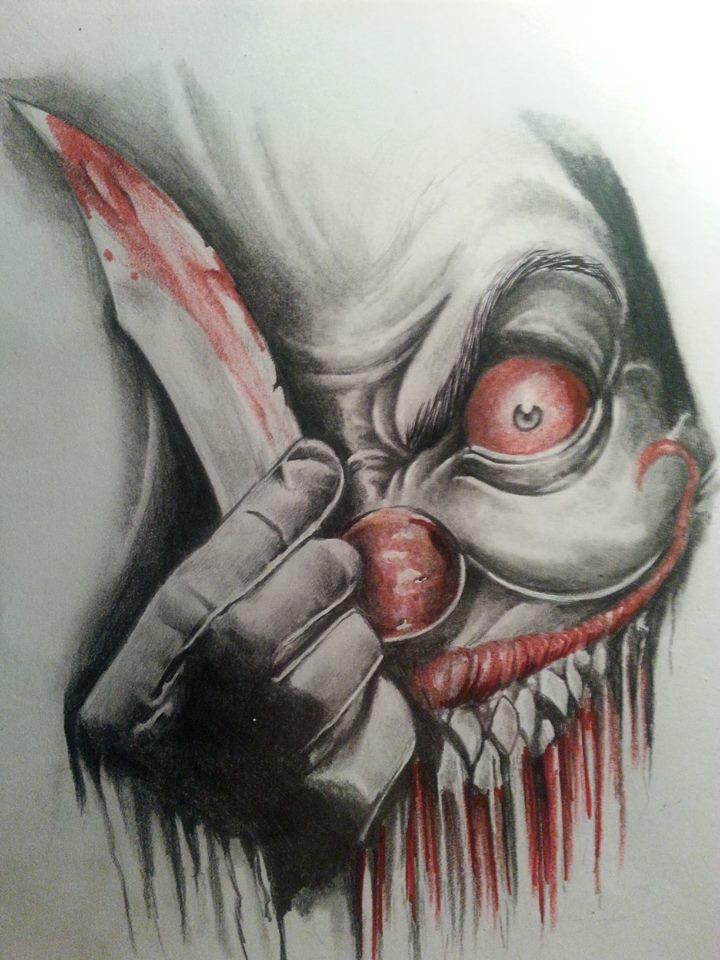720x960 Evil Clown By Jeee001