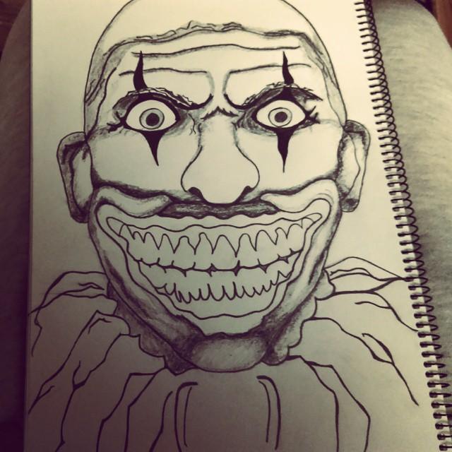 640x640 Evil Clown Drawing On Instagram Draw 2 Evil Clowns