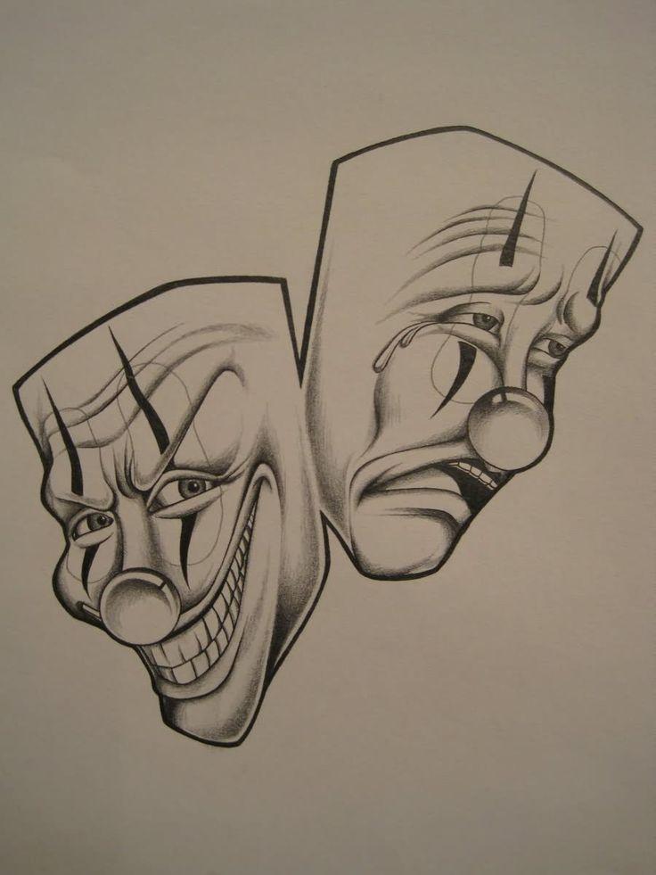 736x981 25 Best Evil Clown Tattoo Flash Images On Evil Clown
