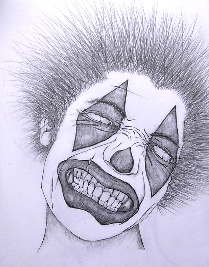 706x900 Evil Clown 1 By Ezaf8