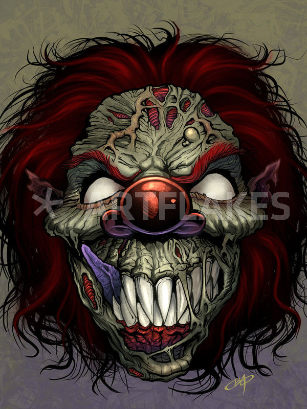 600x800 Evil Clown Drawing Art Prints And Posters By Brian Allen