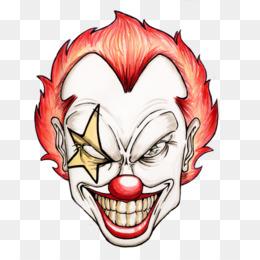 260x260 Free Download Evil Clown Cartoon Drawing Clip Art