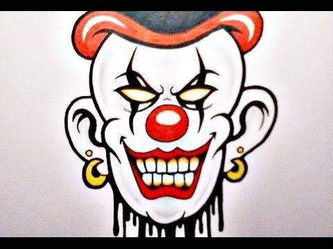 480x360 How To Draw An Evil Clown Xiii