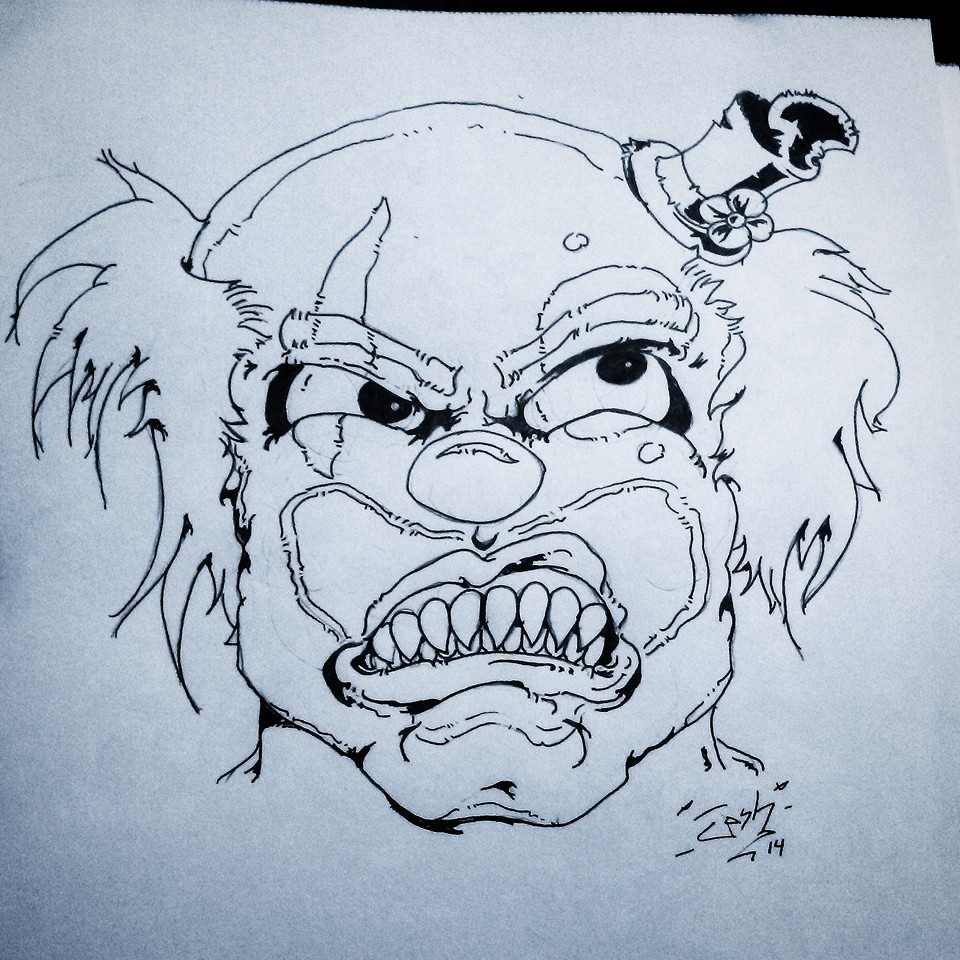 960x960 Image Result For Scary Clown Drawing Clown Mara