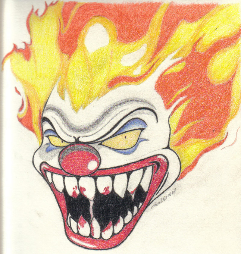 800x843 Evil Clown By Katunopih
