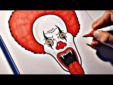 480x360 How To Draw An Evil Clown