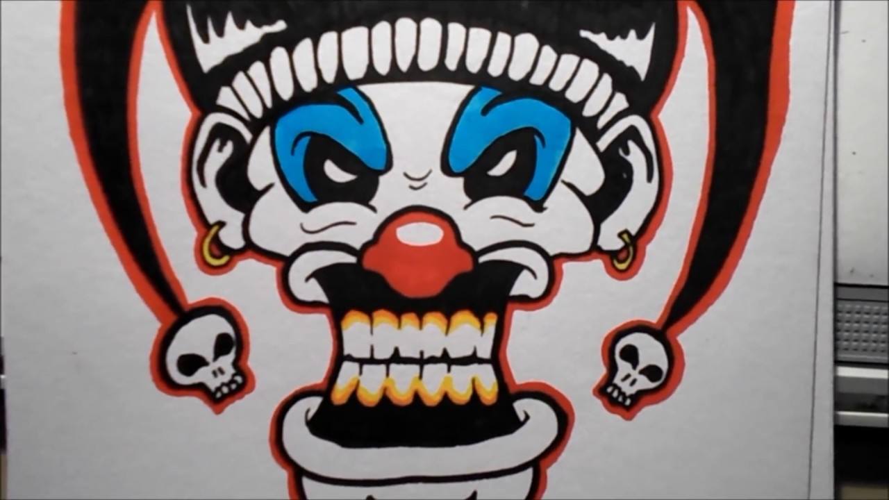 1280x720 How To Draw An Evil Clown Iii