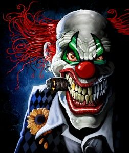 252x300 Evil Clown Drawings