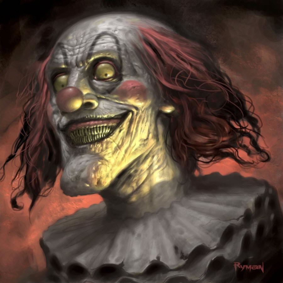 900x900 Scary Clowns Digital Drawing 50 Scary Clowns That Will Haunt