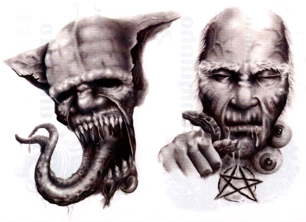1065x773 Latest Evil Demon Tattoo Designs