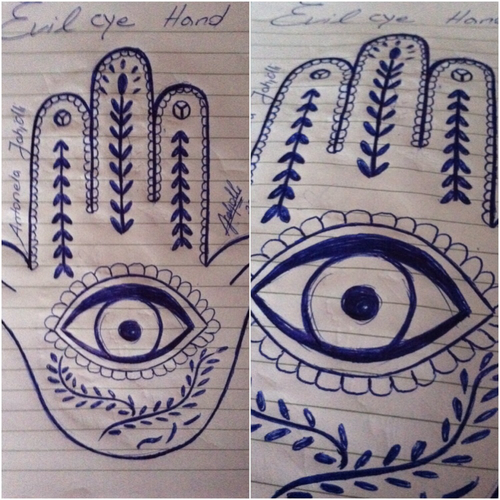 500x500 Drawing By Me Evil Eye Hand On We Heart It