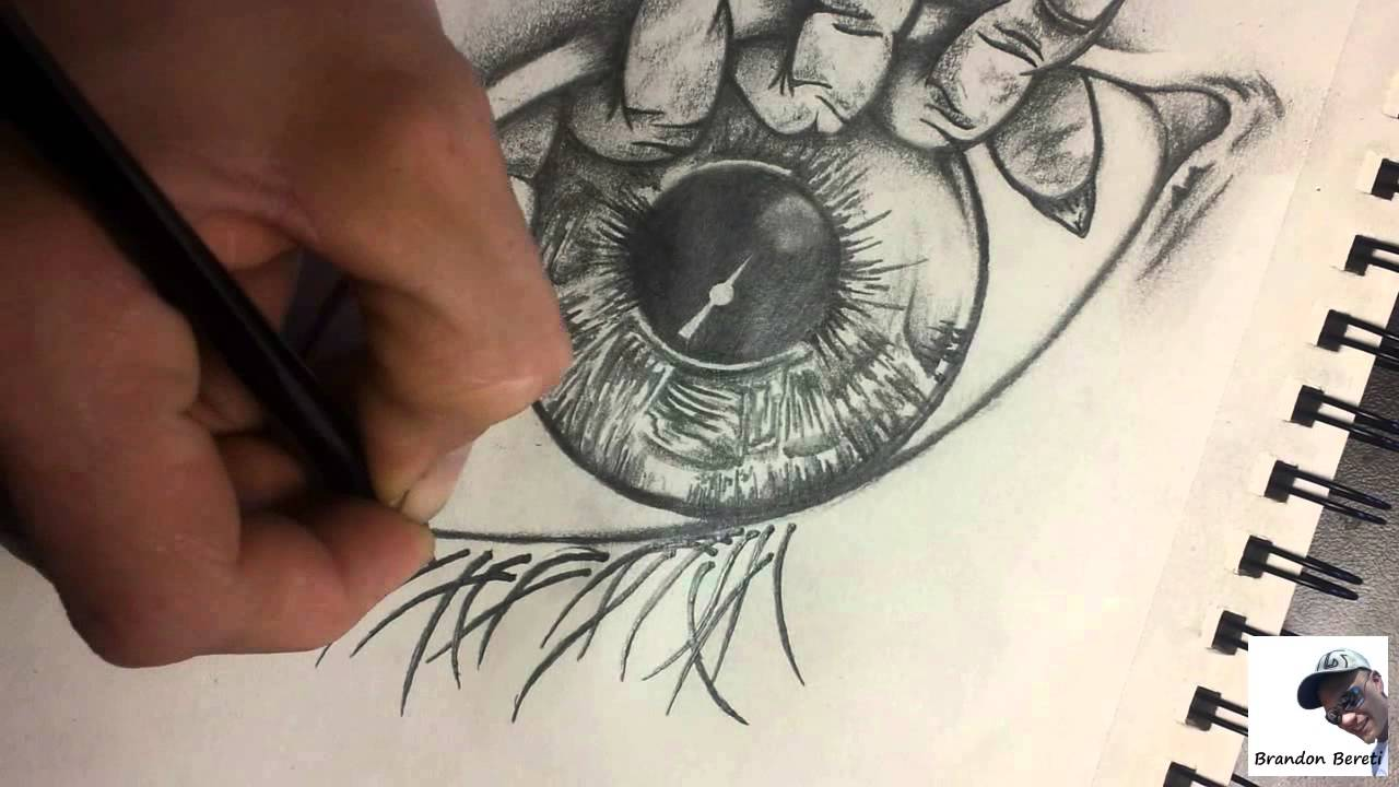 1280x720 Evil Eye Drawing By Brandon Bereti
