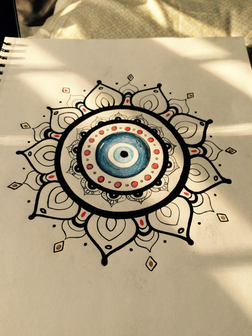 852x1136 My Evil Eye Drawing That I Eventually Want To Get Tattooed