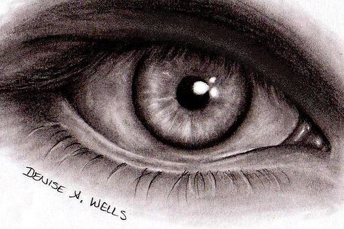 500x333 Realistic Eye Drawing By Denise A. Wells Realistic Eye Drawing