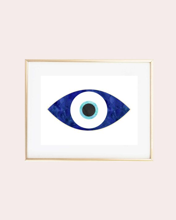 570x713 Watercolor Evil Eye Print