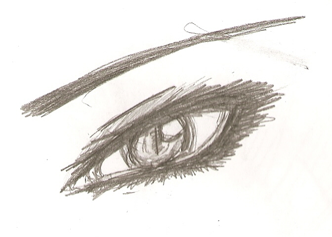 672x480 Evil Eye Sketch By Fluffy Lover