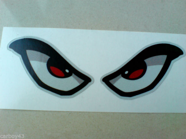 640x480 Reflective Evil Eyes Car Motorcycle Helmet Stickers Decals 1 Off