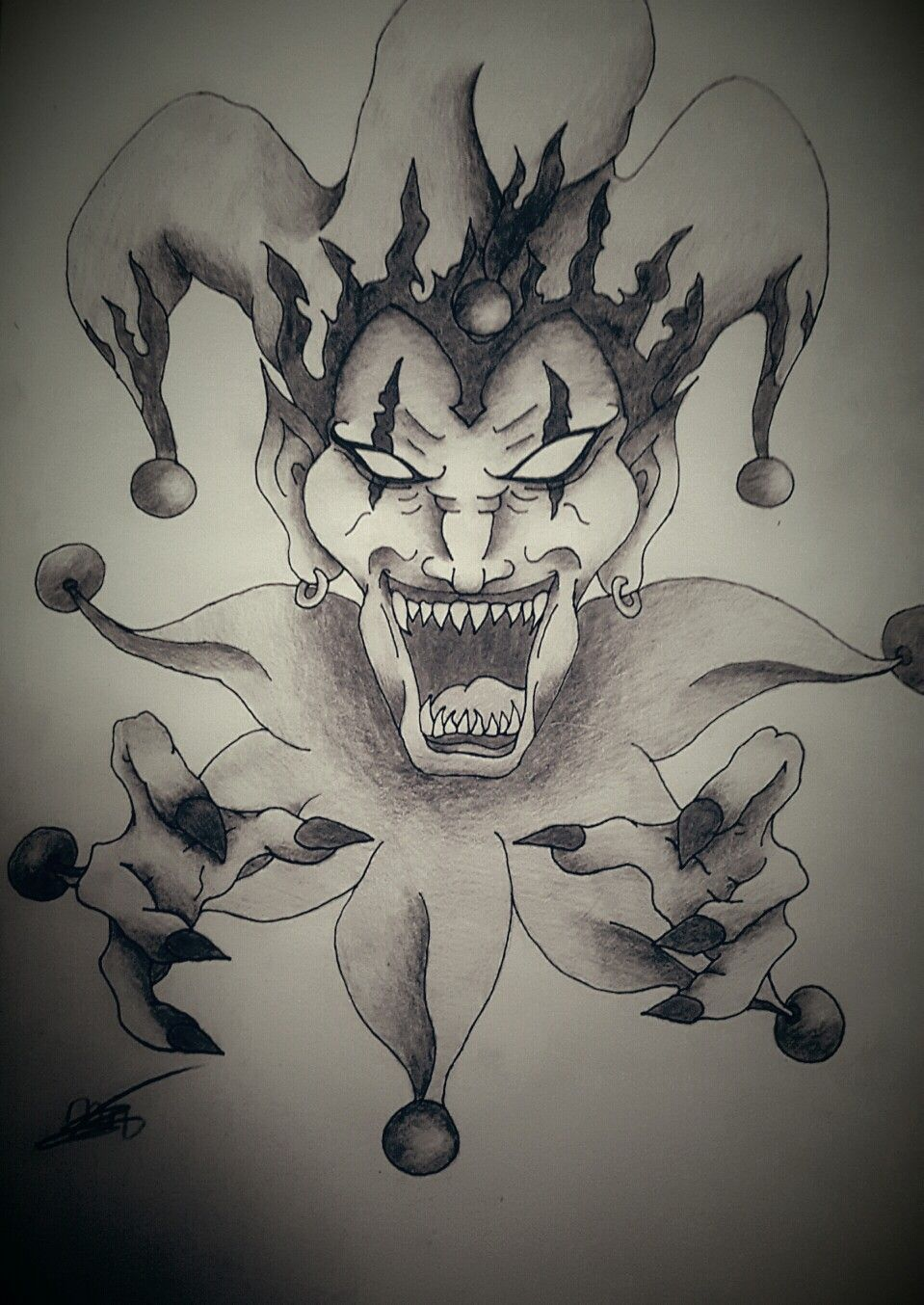 evil joker drawing at getdrawings com free for personal use evil