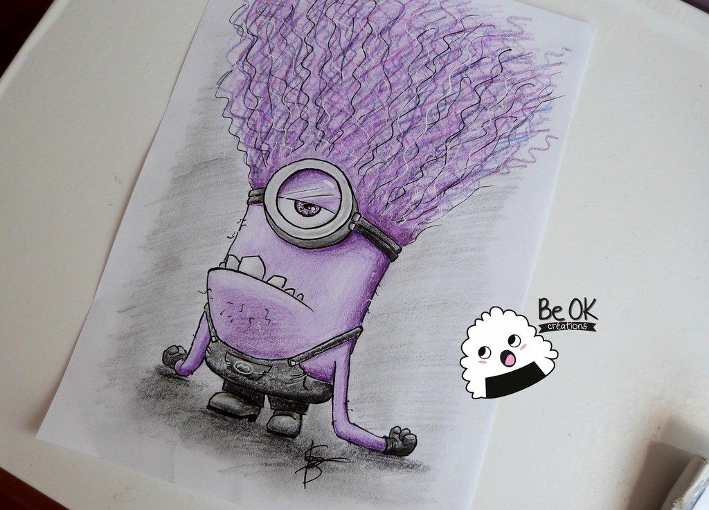 1024x737 Evil Minion (Draw) By Beokcreations