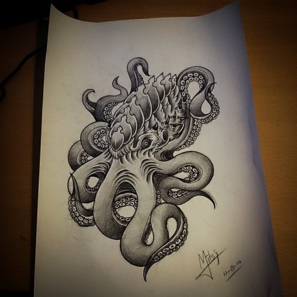 Evil Octopus Drawing at GetDrawings.com | Free for ...