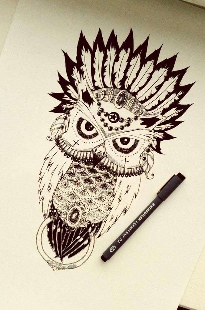 677x1024 Evil Owl By Es Enim Anima
