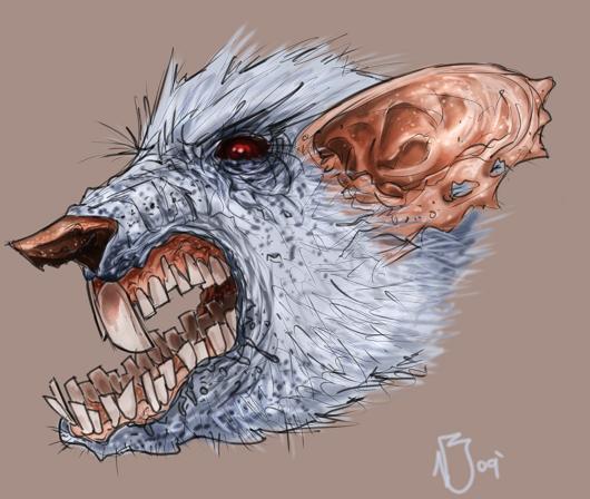 530x448 Evil Rat Sketch By Nickybeats
