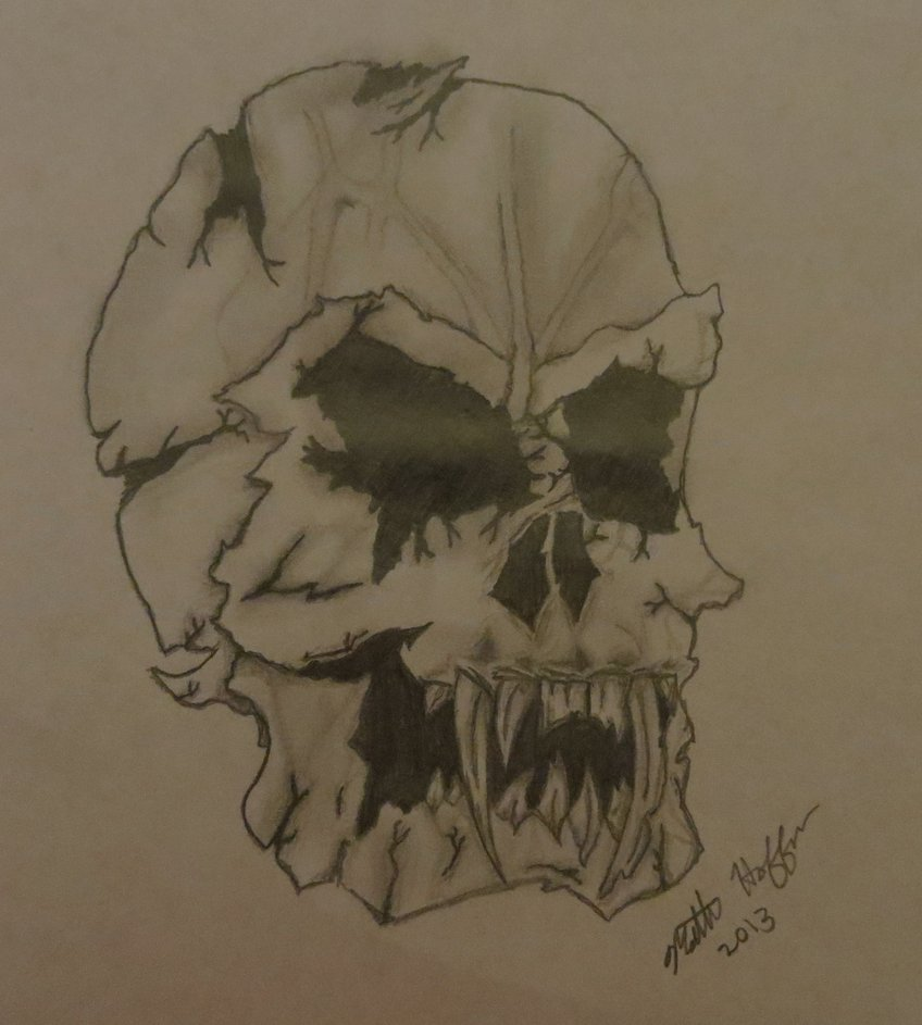 848x943 Demon Skull (Remake Of Devilish Evil Skull) By Withasideoffries