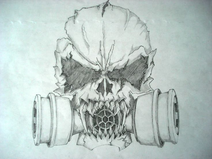 736x552 Scary Skull Drawings Evil Skulls Drawings Bucket Pic