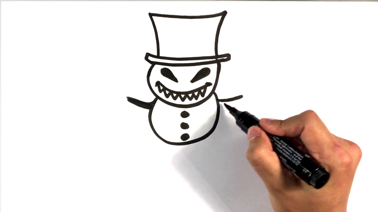1280x720 How To Draw An Evil Snowman